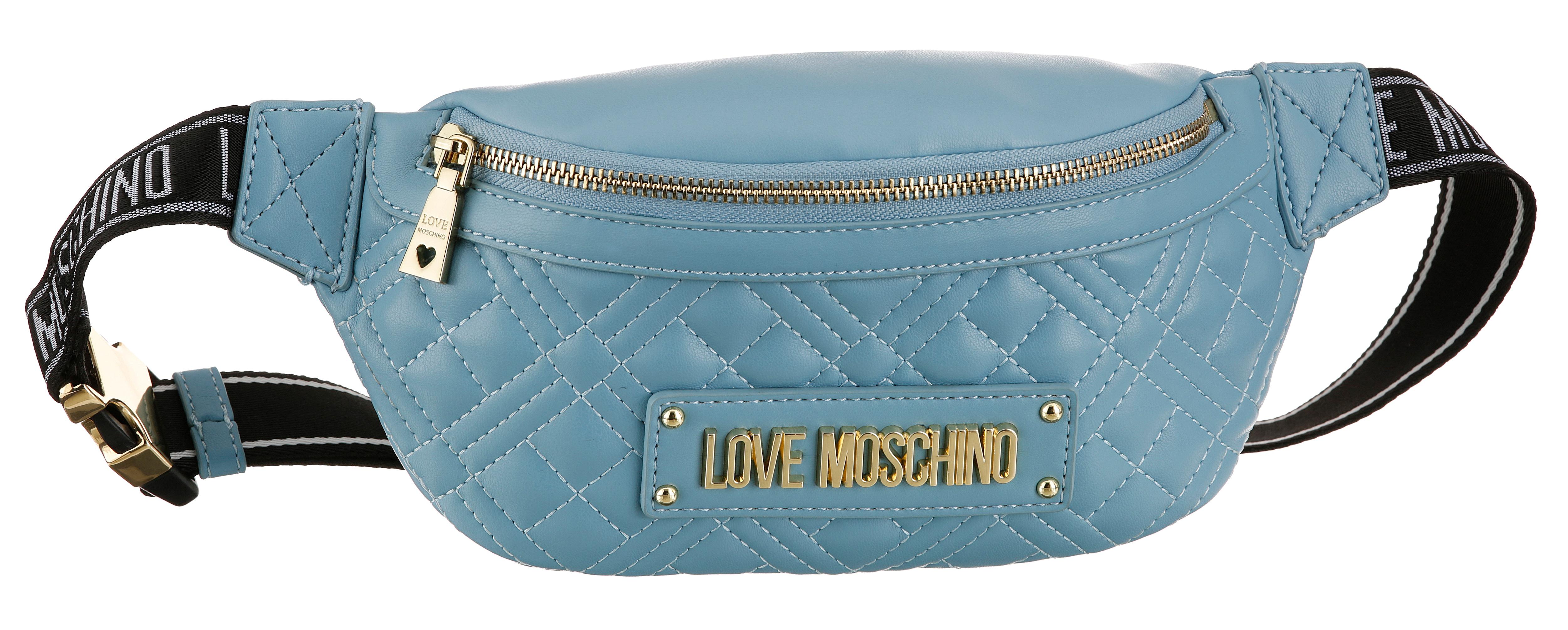 love moschino -  Bauchtasche, mit Ziersteppung goldfarbenen Details