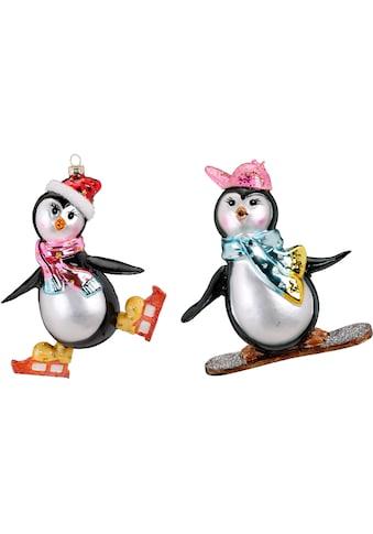"""MAGIC by Inge Christbaumschmuck """"Pinguin - Set, Pinguin auf Snowboard, Pinguin auf Schlittschuhen"""" (2 - teilig) kaufen"""