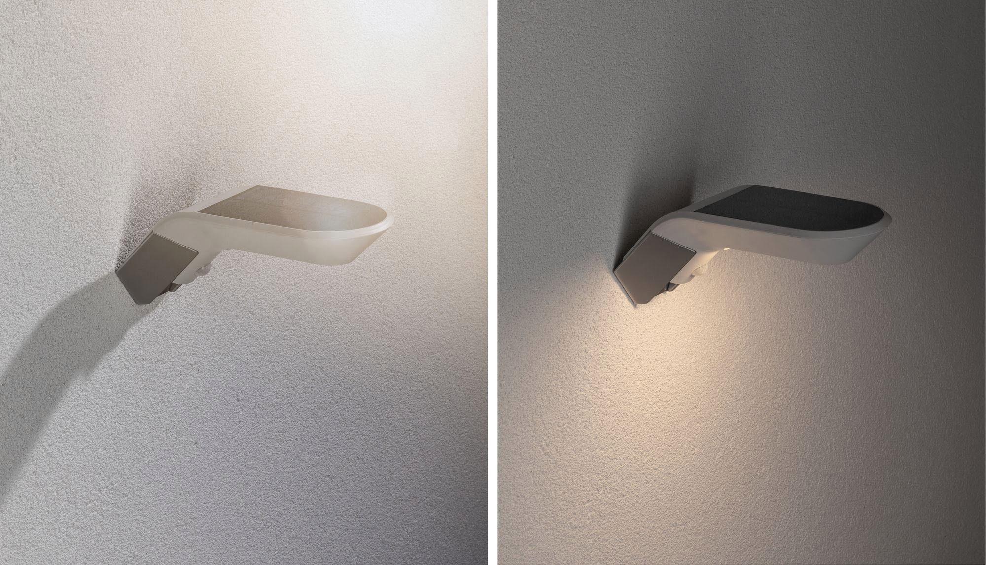 Paulmann LED Außen-Wandleuchte Outdoor Soley Solar 3000K Weiß, Warmweiß