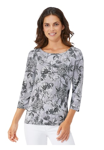 Lady Shirt mit edlem Blumenmuster kaufen