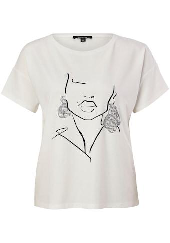 Comma Rundhalsshirt, mit grafischem Print kaufen