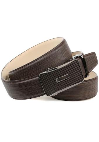 Anthoni Crown Ledergürtel, Handgenäht mit farbiger Karbon-Schließe kaufen