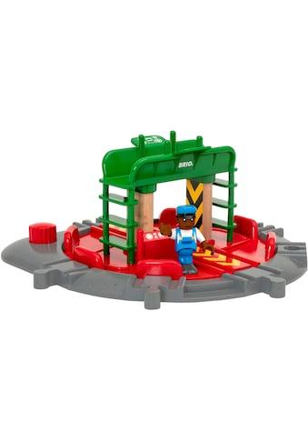 BRIO® Spielzeugeisenbahn-Brücke »BRIO® WORLD Lok-Drehscheibe mit Kontrollbrücke«,... kaufen