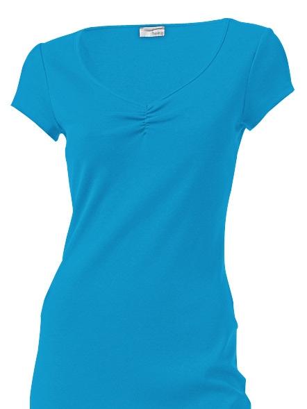 heine CASUAL Shirtkleid mit Raffung am Ausschnitt | Bekleidung > Kleider > Shirtkleider | Blau | heine