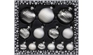 MAGIC by Inge Weihnachtsbaumkugel »Frosty Silver«, (Set, 13 St.), hochwertiger... kaufen