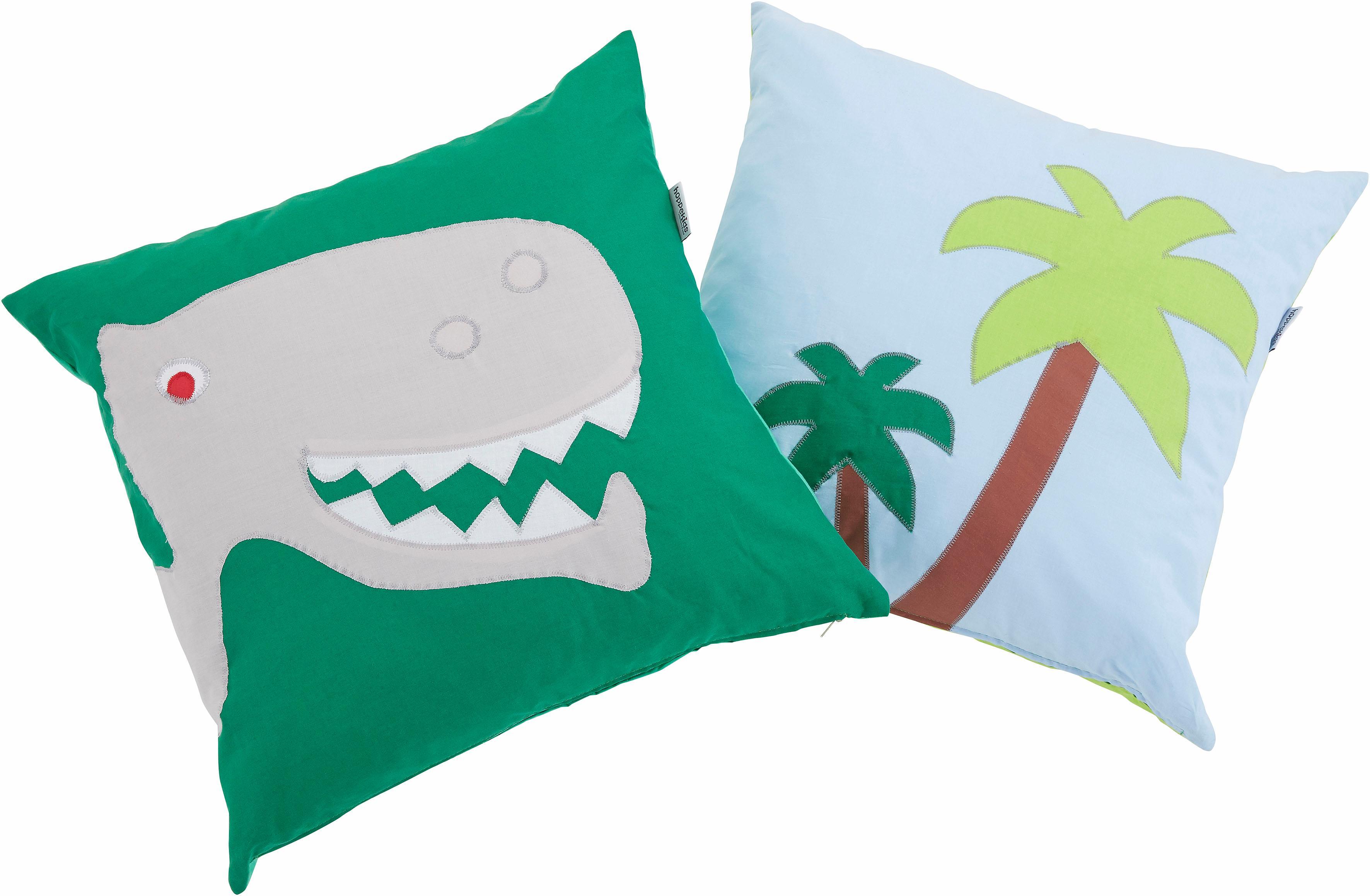 Hoppekids Kissen-Set (2tlg) Dinosaurier | Kinderzimmer > Textilien für Kinder > Kinderkissen | Grün | Hoppekids