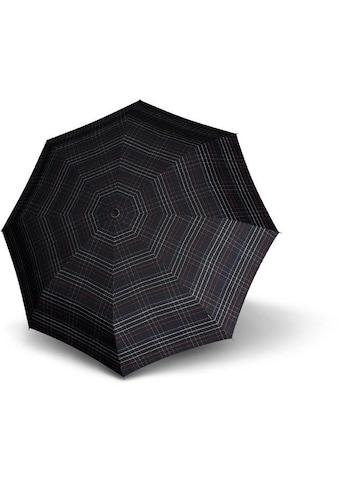 Knirps® Taschenregenschirm »T.301 Large Duomoatic, check black« kaufen