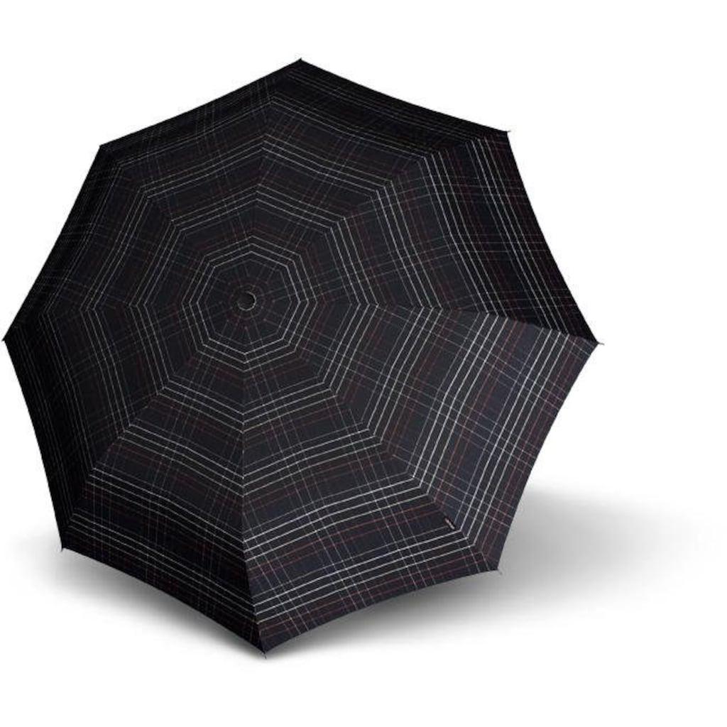 Knirps® Taschenregenschirm »T.301 Large Duomoatic, check black«