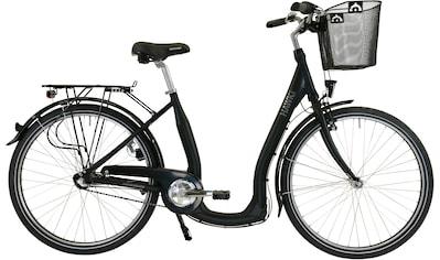 HAWK Bikes Cityrad »HAWK City Comfort Premium Plus Black«, 3 Gang, Shimano, Nexus... kaufen