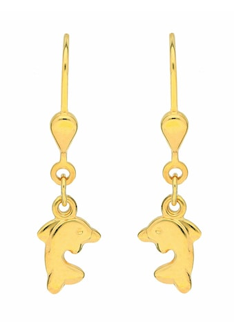 Adelia´s Paar Ohrhänger »333 Gold Ohrringe / Ohrhänger Delphin«, Goldschmuck für Damen kaufen