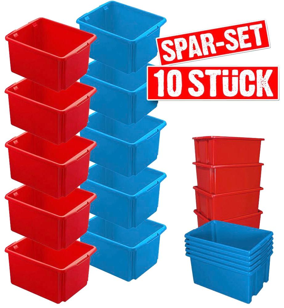 Aufbewahrungsbox, (Set, 10 St.), BxTxH: 36x45,5x24,5 cm bunt Kleideraufbewahrung Aufbewahrung Ordnung Wohnaccessoires Aufbewahrungsbox