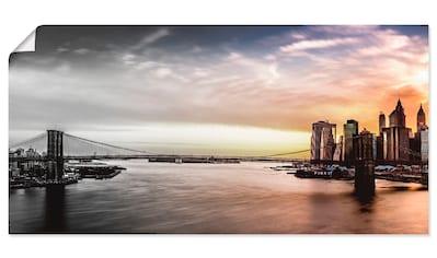 Artland Wandbild »Brooklyn Bridge Panorama« kaufen