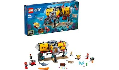 LEGO® Konstruktionsspielsteine »Meeresforschungsbasis (60265), LEGO® City Oceans«, (497 St.), Made in Europe kaufen