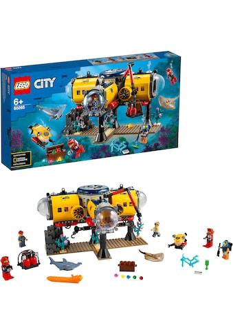 "LEGO® Konstruktionsspielsteine ""Meeresforschungsbasis (60265), LEGO® City Oceans"", Kunststoff, (497 - tlg.) kaufen"
