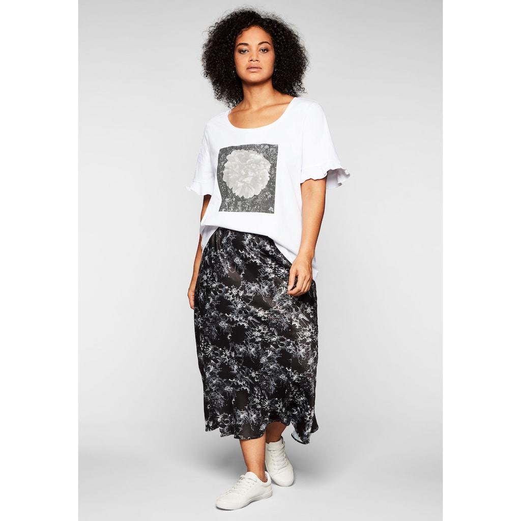 Sheego T-Shirt, mit Frontdruck und Flügelärmeln