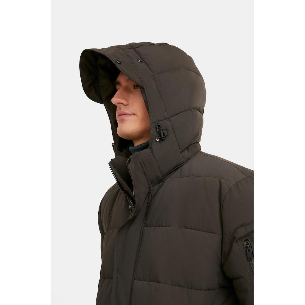 Finn Flare Steppmantel, mit praktischen Reißverschlusstaschen