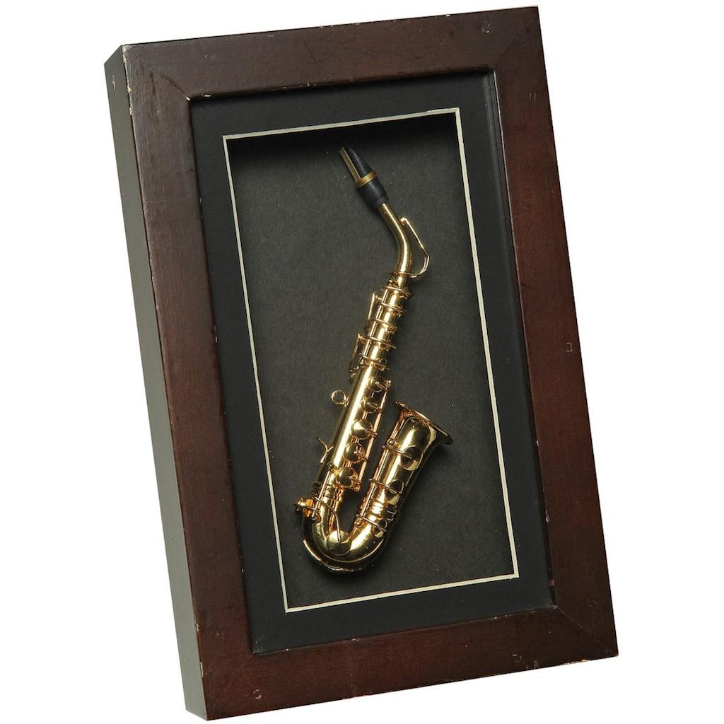 Ambiente Haus Dekofigur »Saxophon im Rahmen 22x14cm«