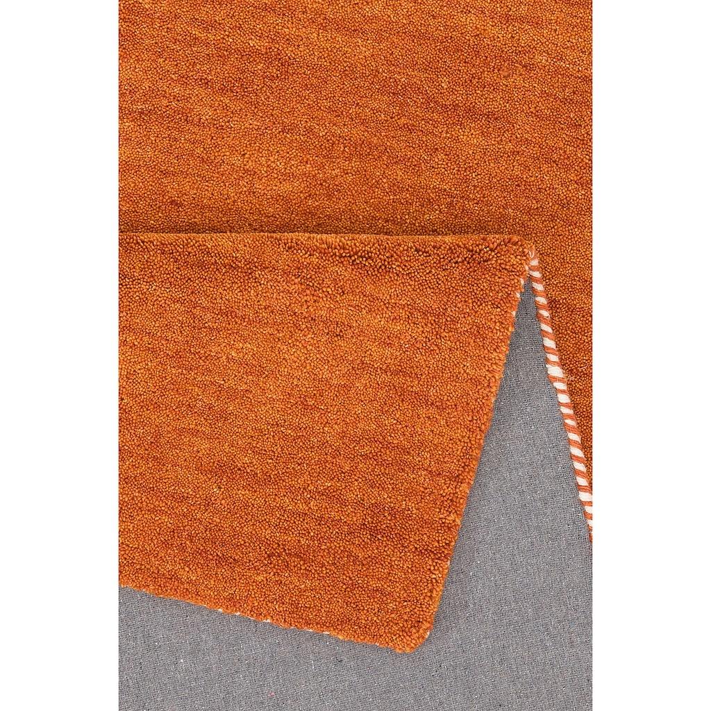 Wollteppich, »Gabbeh uni«, Theko Exklusiv, rechteckig, Höhe 15 mm, handgewebt