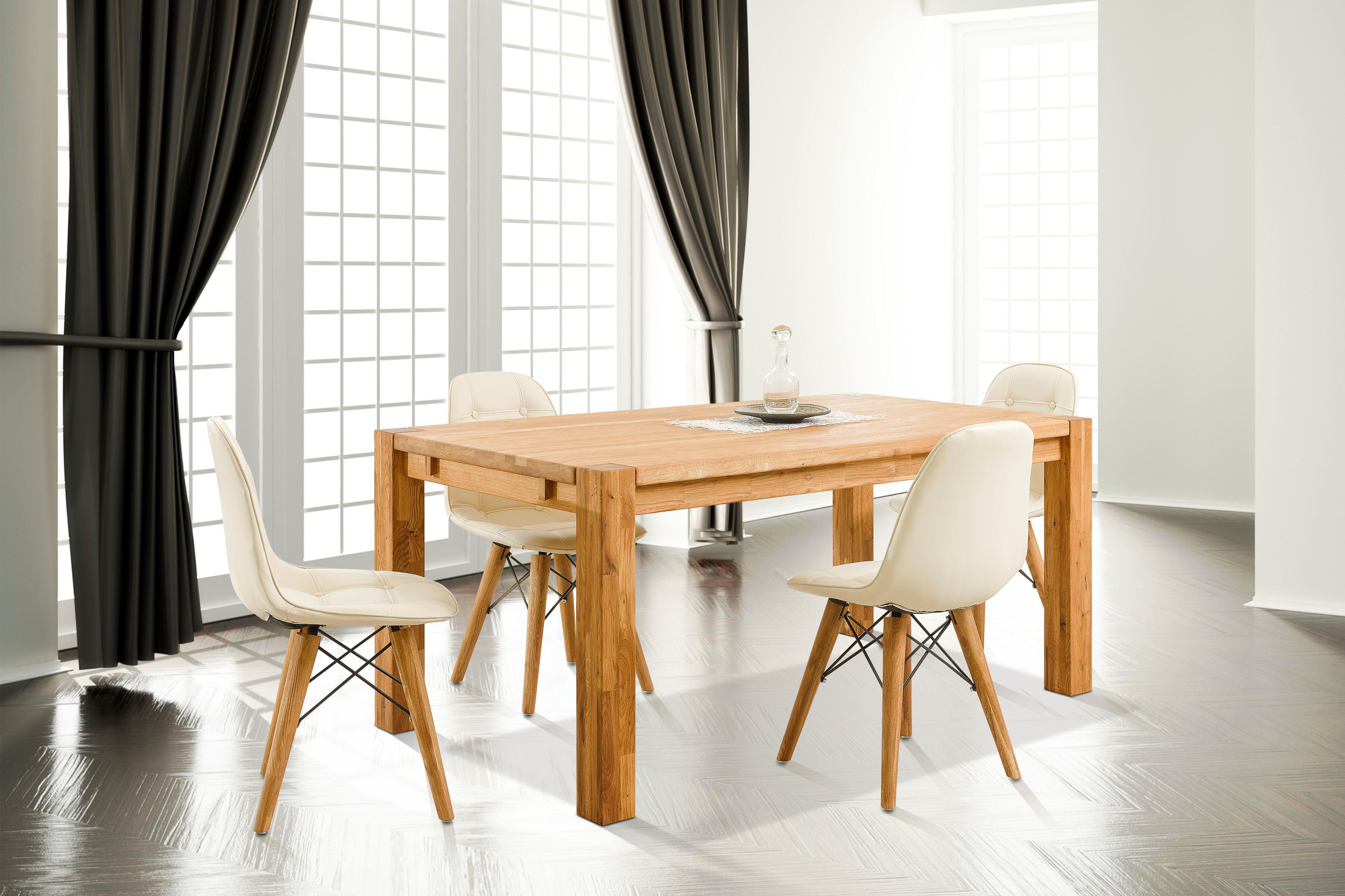 Home affaire Essgruppenset »Tim« bestehend aus 4 Stühlen und einem Esstisch, Esstischgröße 160 cm (5-tlg.)