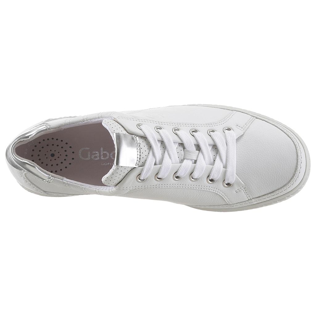 Gabor Sneaker, mit modischer Ziersteppung