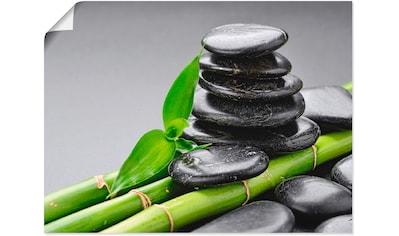 Artland Wandbild »Basalt Steine und Bambus«, Zen, (1 St.), in vielen Größen &... kaufen