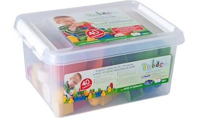 anbac Spielbausteine »Bausteineset«, (40 St.), in praktischer Kunststoffbox; Made in... kaufen