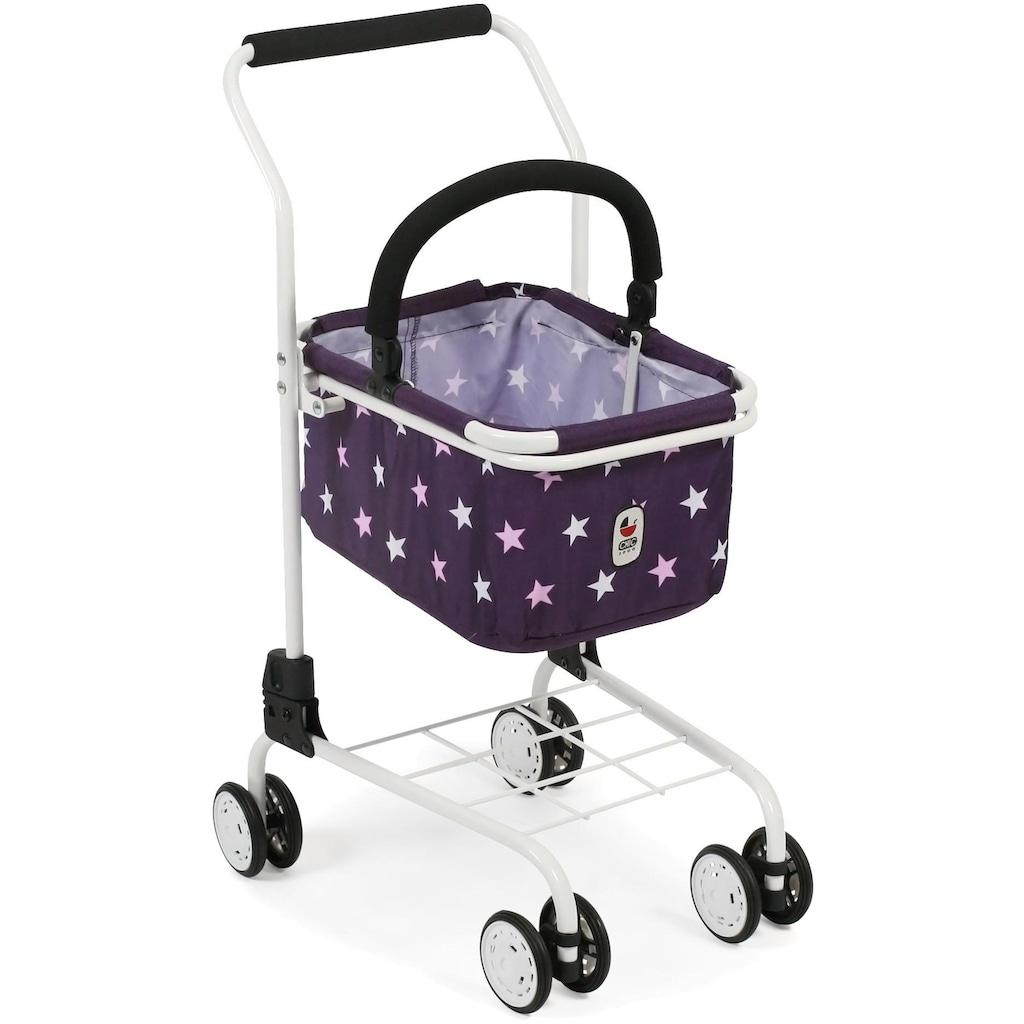CHIC2000 Spiel-Einkaufswagen »Kinder Einkaufswagen, Stars lila«, mit abnehmbarem Einkaufskorb