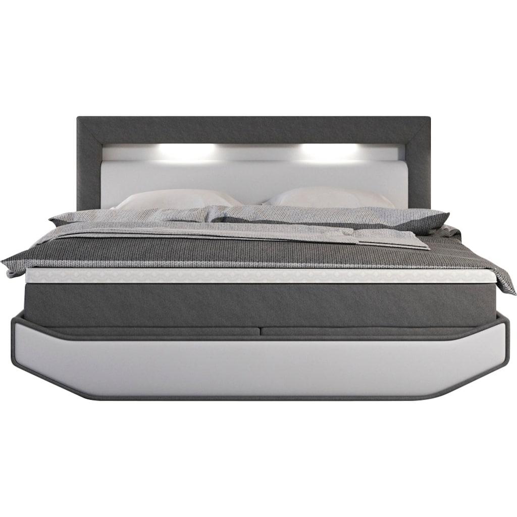 SalesFever Polsterbett, LED-Beleuchtung mit Farbwechsler und Fernbedienung