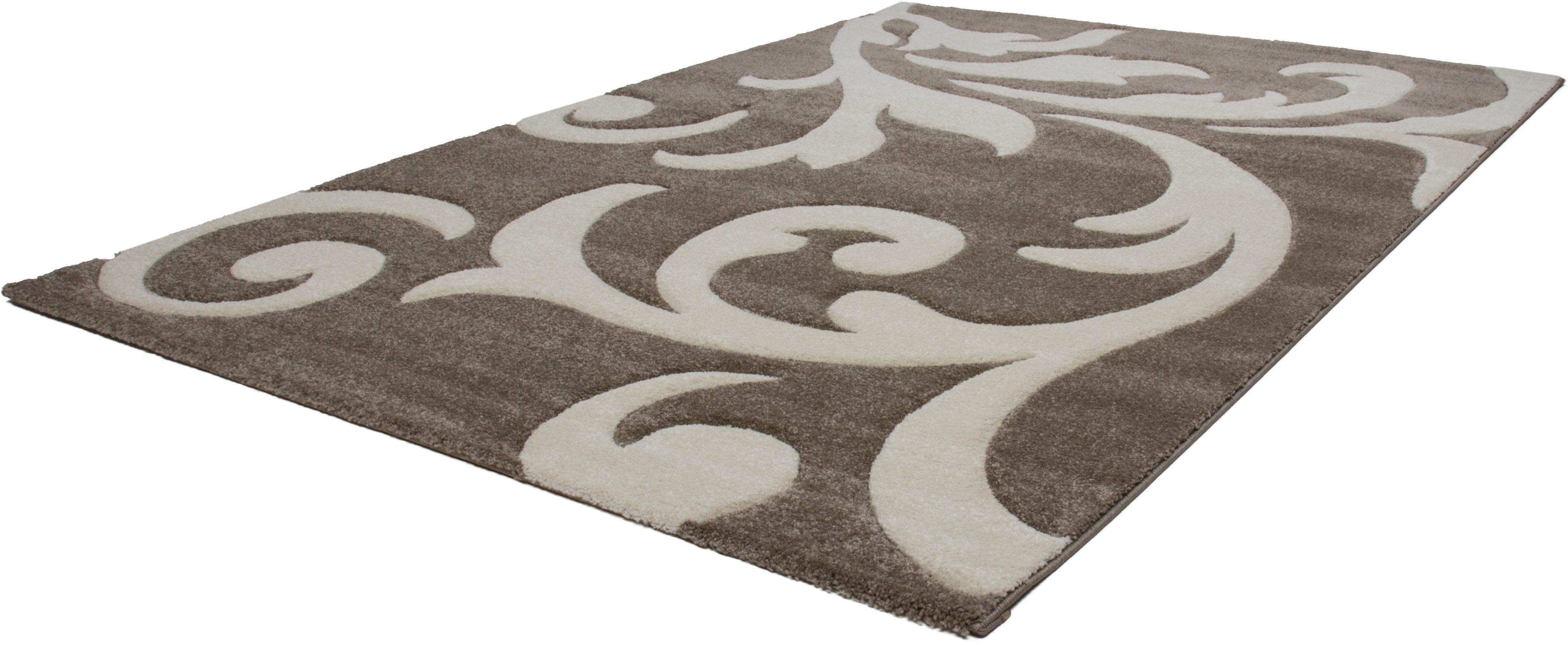 Teppich Alxios 450 calo-deluxe rechteckig Höhe 17 mm maschinell gewebt
