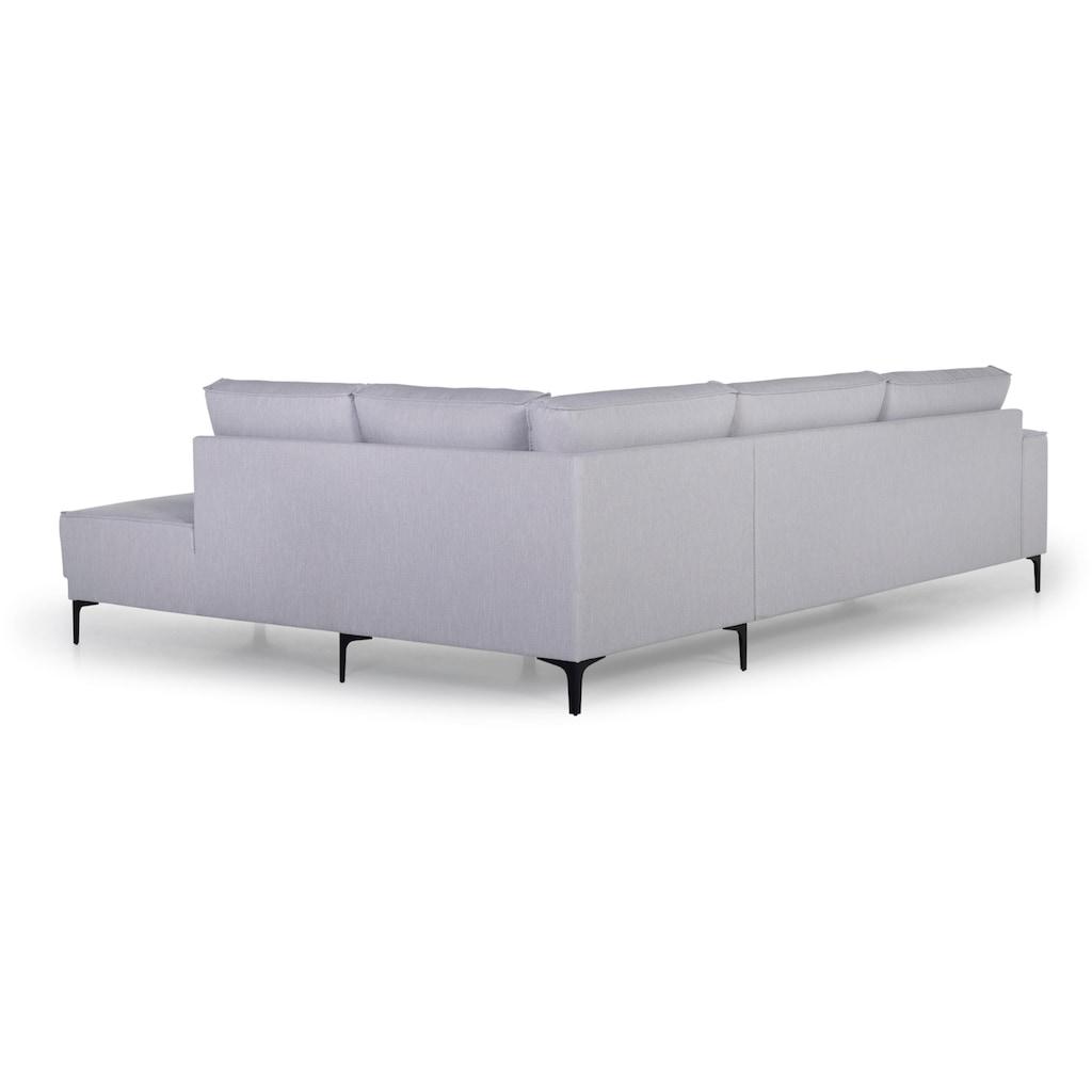 Places of Style Ecksofa »Oland«, im zeitlosem Design und hochwertiger Verabeitung