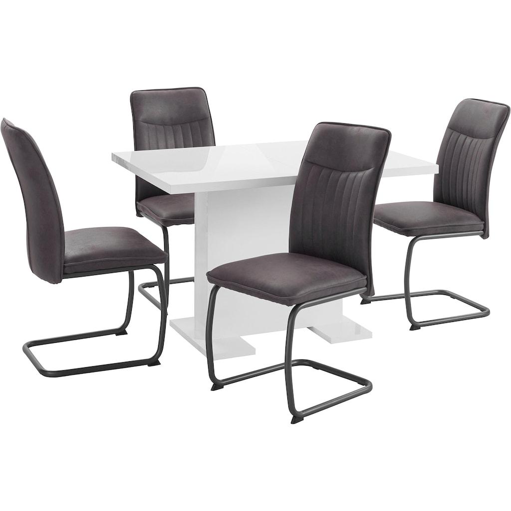 HELA Essgruppe »RUBINA«, (Set, 5 tlg.), Tisch ausziehbar 120-160 cm