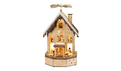 HGD Holz - Glas - Design Pyramide Weihnachtshaus für Batterie -  und Netzbetrieb kaufen