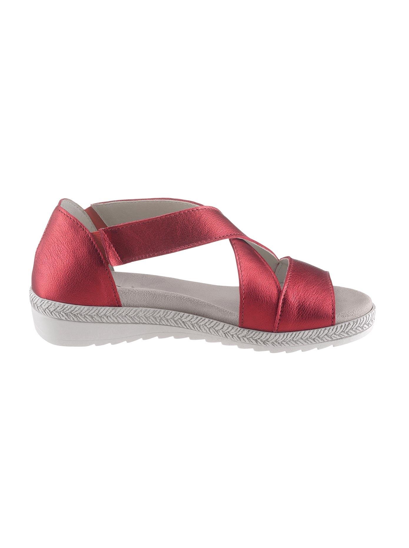 Aco Sandalette rot Damen Sandaletten Sandalen