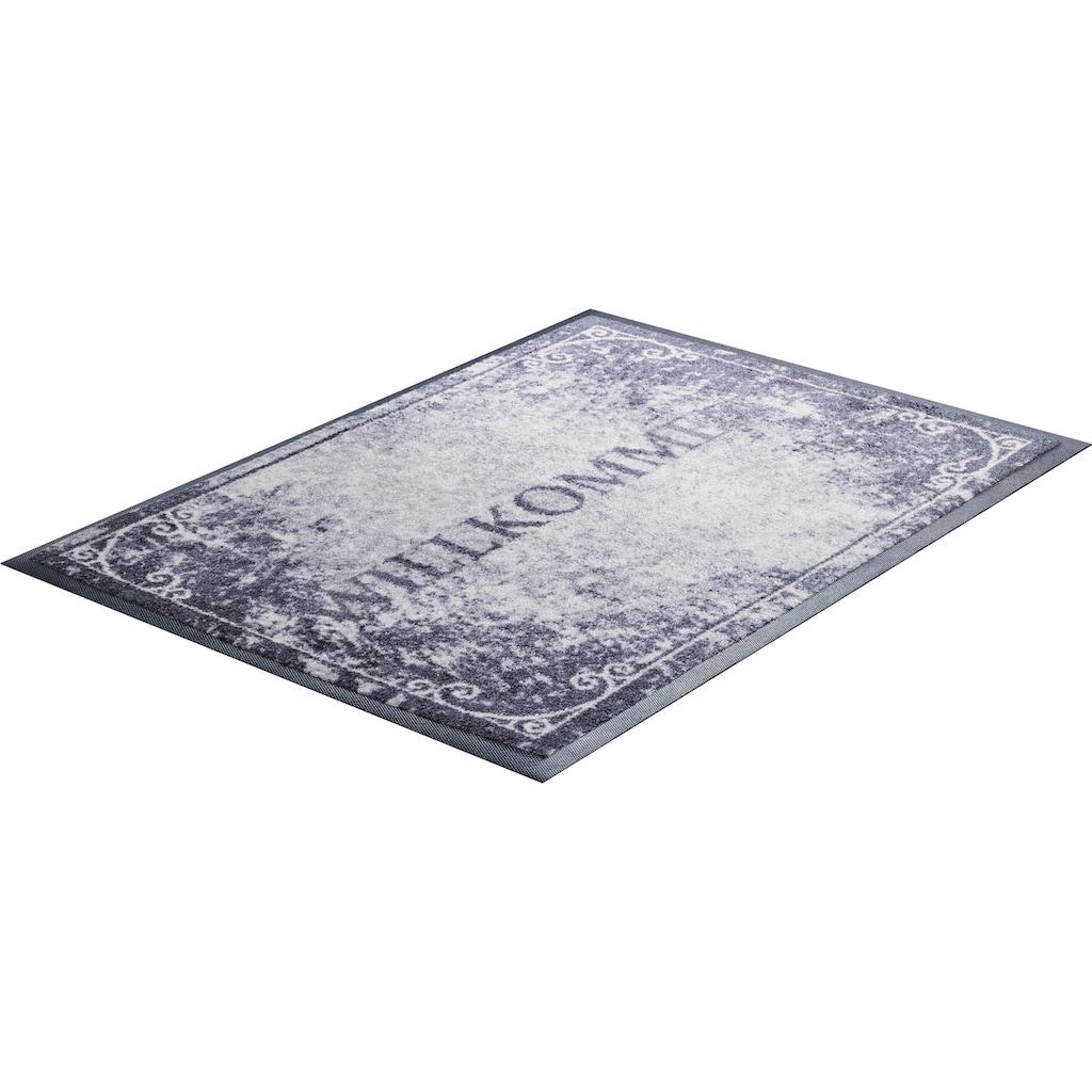 Grund Fußmatte »Willkommen«, rechteckig, 8 mm Höhe, In- und Outdoor geeignet
