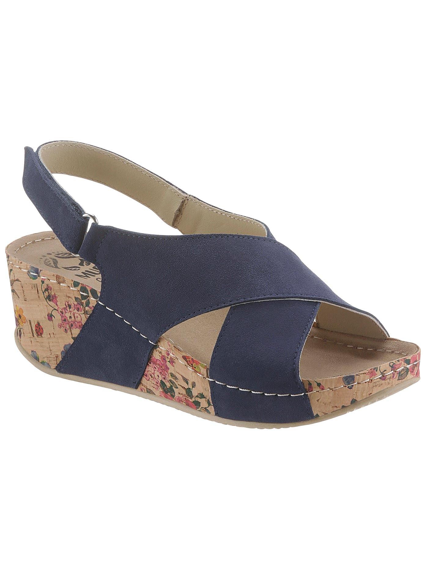 MUBB Sandalette blau Damen Sandaletten Sandalen