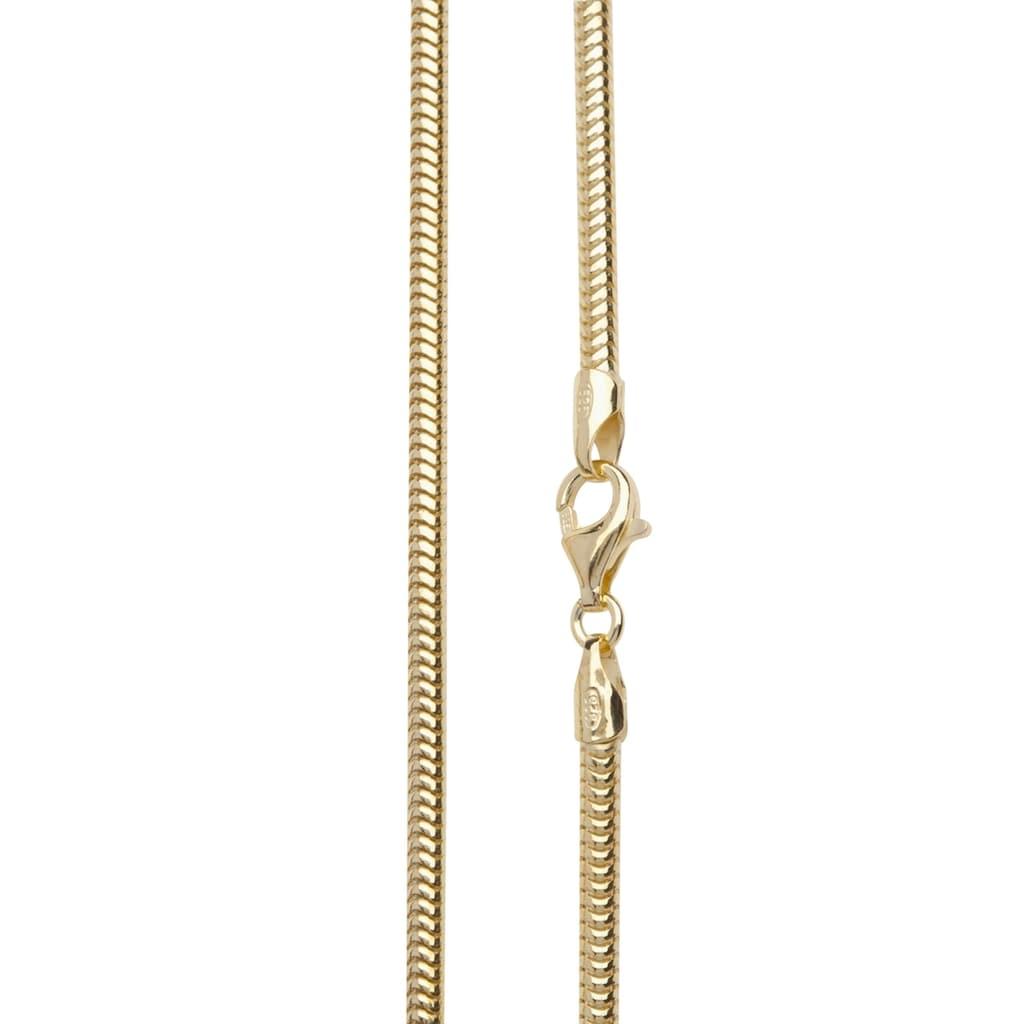 OSTSEE-SCHMUCK Silberkette »- Schlange 2,4 mm - Silber 925/000, vergoldet -,«, (1 tlg.)