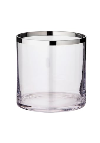 EDZARD Windlicht »Molly«, Laterne aus Kristallglas mit Platinrand, Kerzenhalter für... kaufen