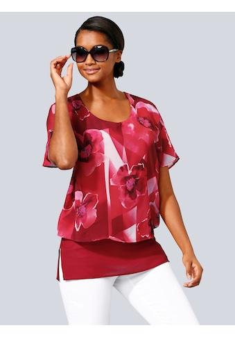 Alba Moda Blusenshirt in modischem Lagen-Look kaufen