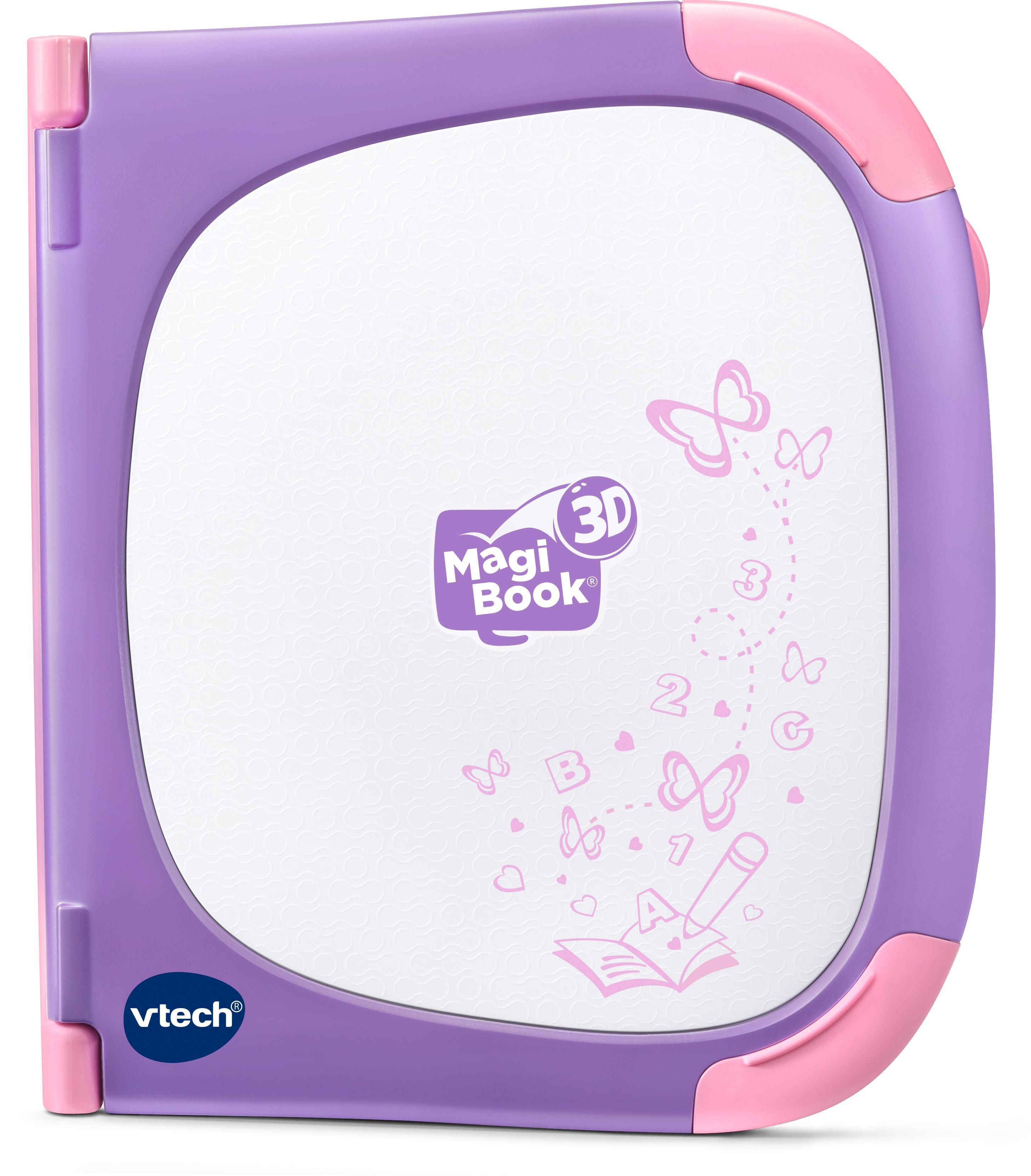 Vtech Kindercomputer MagiBook 3D, pink lila Kinder Kinder-Computer Lernspielzeug