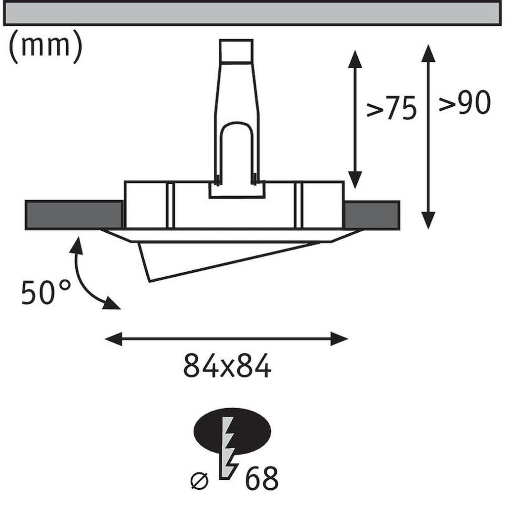 Paulmann LED Einbaustrahler »schwenkbar Nova eckig 3x6,5W GU10 Alu gedreht 3-Stufen-dimmbar«, GU10, 3 St.