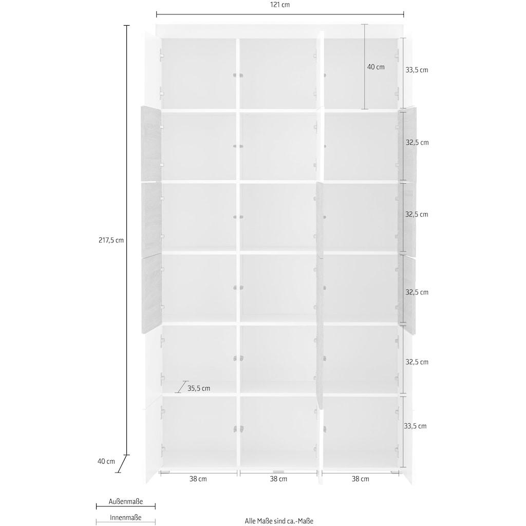 "Places of Style Aktenschrank »Ergil«, Aktenschrank ""Ergil"", 18 Türen mit Push-to-open-Funktion"