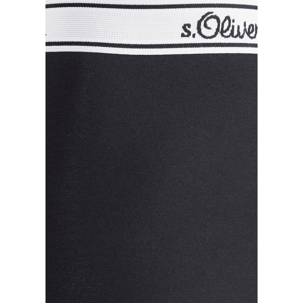 s.Oliver Bodywear Boxer, mit weißem Webbund