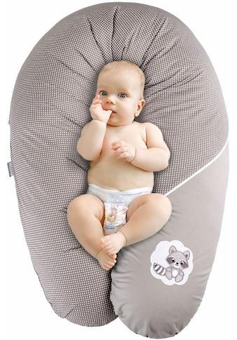 SEI Design Stillkissen »Waschbär taupe«, mit hochwertiger Stickerei mit niedlichen Tiermotiven kaufen