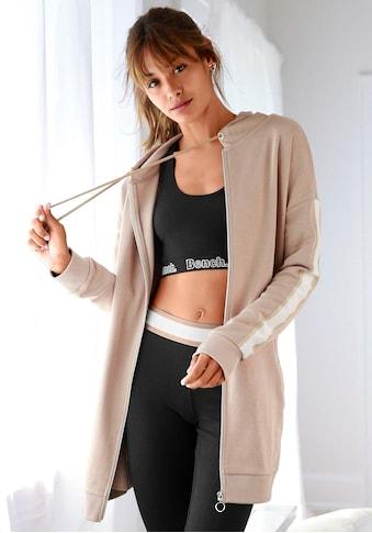Bench. Kapuzensweatjacke, in langer Form mit Zipper kaufen