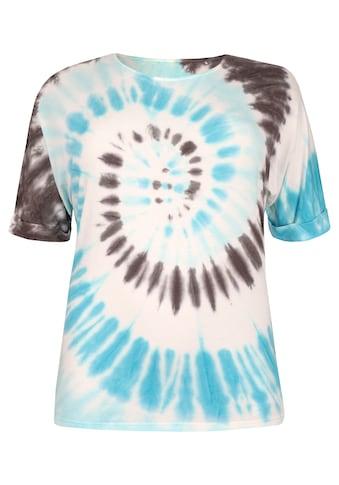 VIA APPIA DUE Cooles T - Shirt mit Batik - Muster Plus Size kaufen