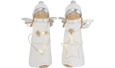 BOLTZE Engelfigur »Lauretta«, mit LED Beleuchtung und Timer, Höhe ca. 21 cm kaufen