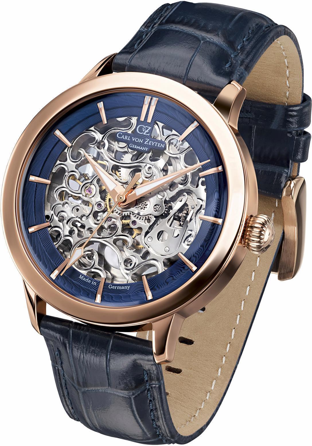 Carl von Zeyten Automatikuhr »Triberg, CVZ0013RBL« | Uhren > Automatikuhren | Blau | CARL VON ZEYTEN