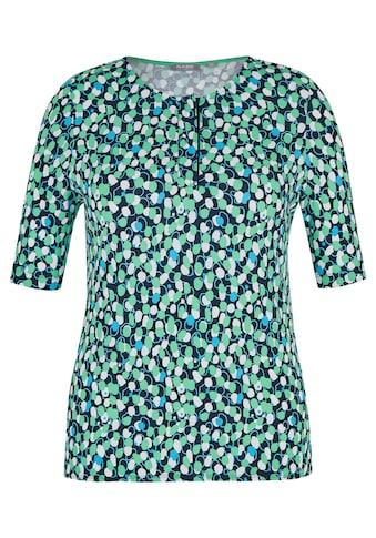 Rabe T - Shirt mit Allover - Print und Druckknopfleiste kaufen