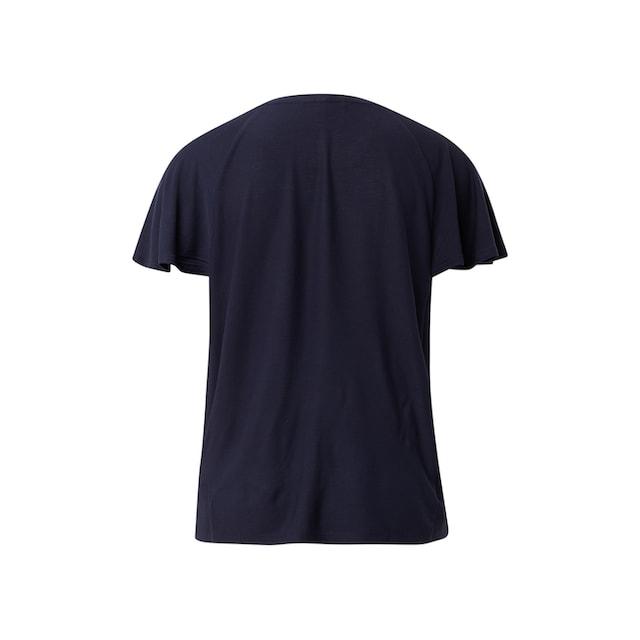 TOM TAILOR Denim Kurzarmshirt »Bluse im Retro-Look«