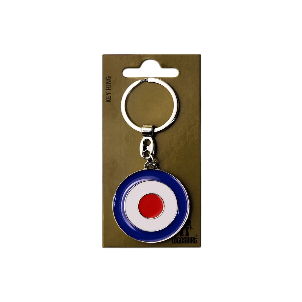 LOGOSHIRT Schlüsselanhänger mit Mod-Target-Symbol